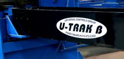 u-trak length control system on a tube cut-off machine